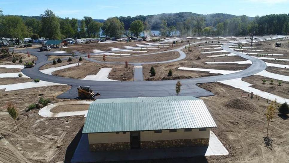 Pleasant Hill's New Campground Nearing completion - MWCD