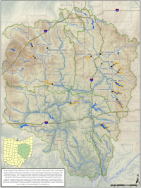 Muskingum Watershed Map