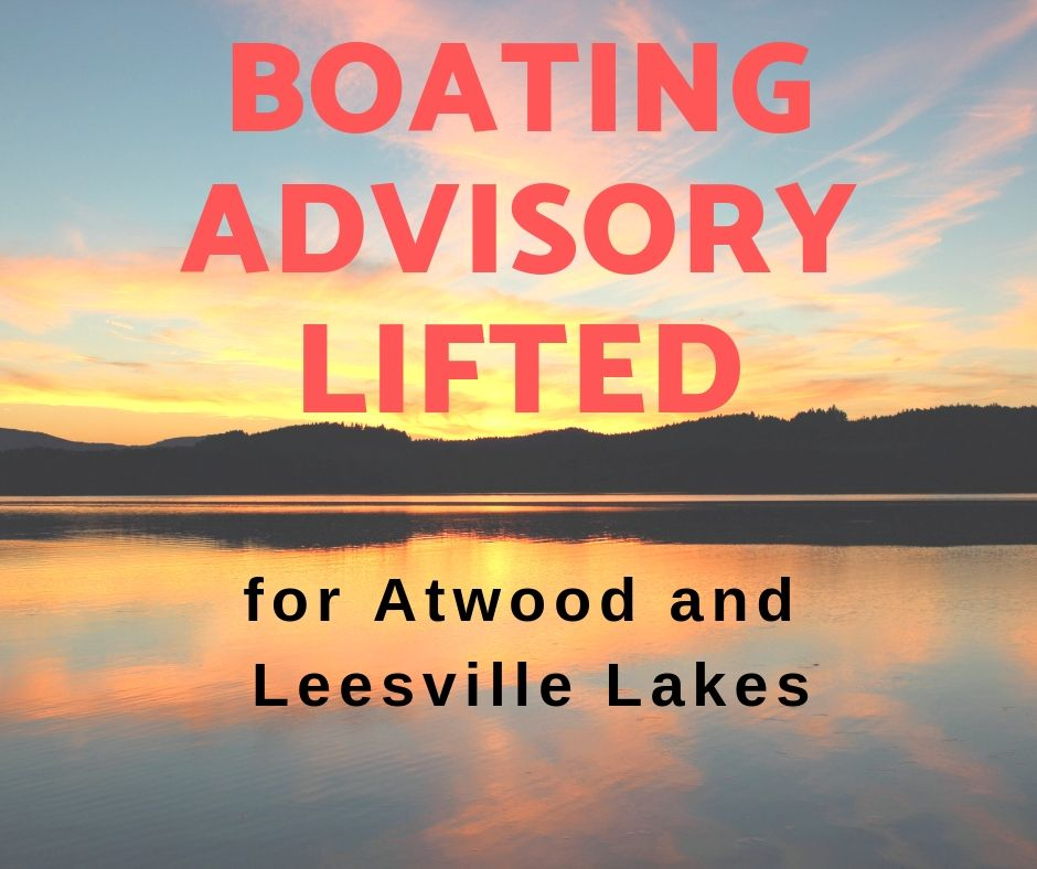 Boating Advisory Lifted on Atwood and Leesville Lakes