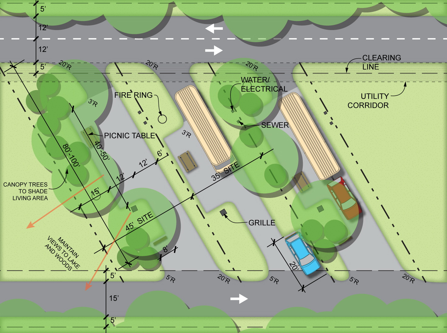 Mwcd Master Plan Updates on parking pad with storage