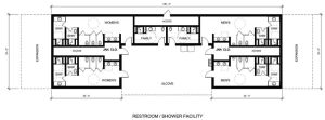Conceptual Design Shower Facility Floor Plan