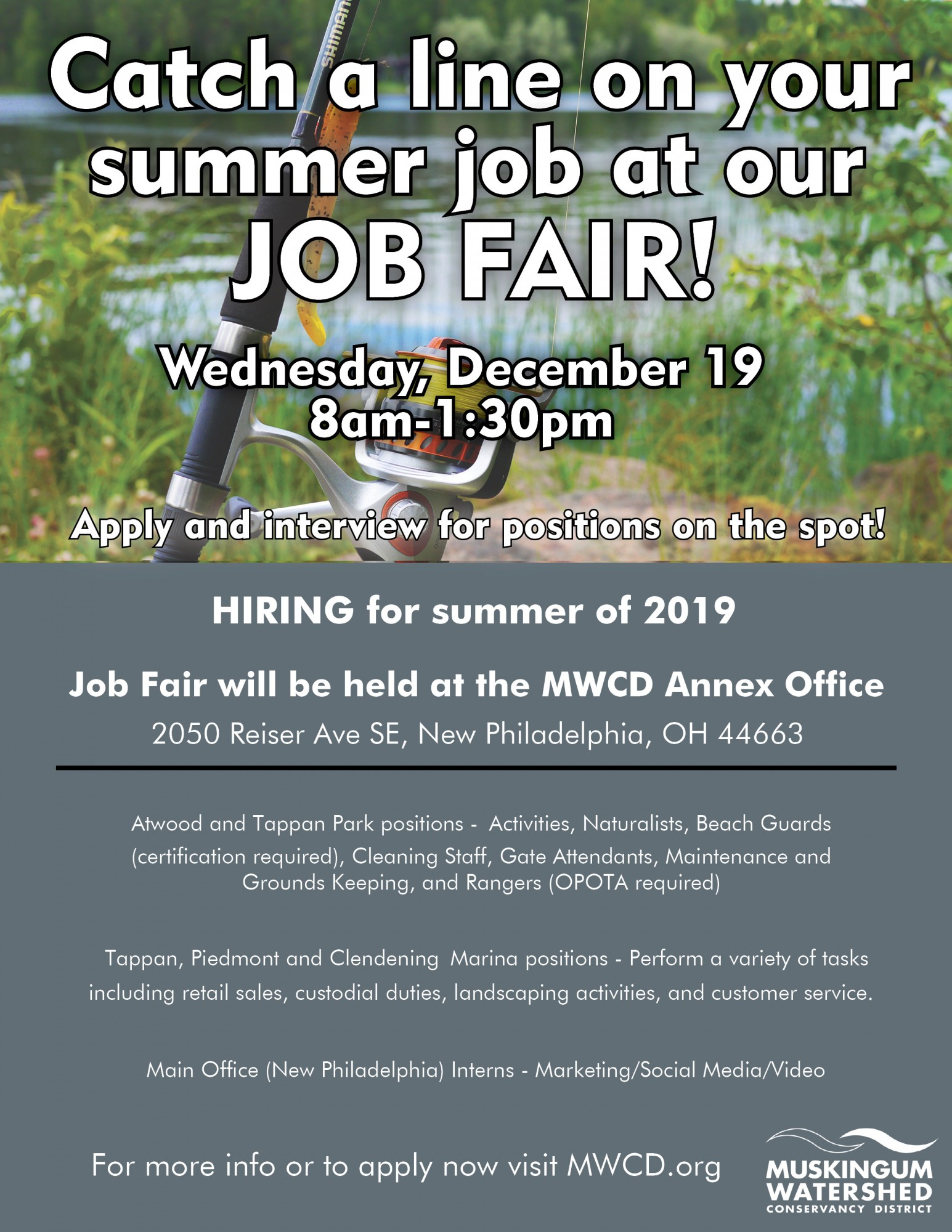 Catch A Line On A Summer Job At Our Job Fair Mwcd