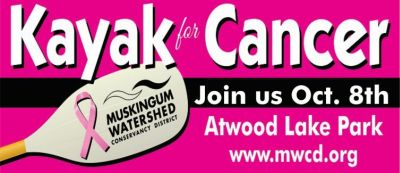 2nd Annual Kayak for Cancer Event is October 8 at Atwood Lake Park